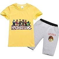 Baonmy Roblox - Traje de Manga Corta Unisex para niños, 2 Piezas, Ropa Deportiva Transpirable