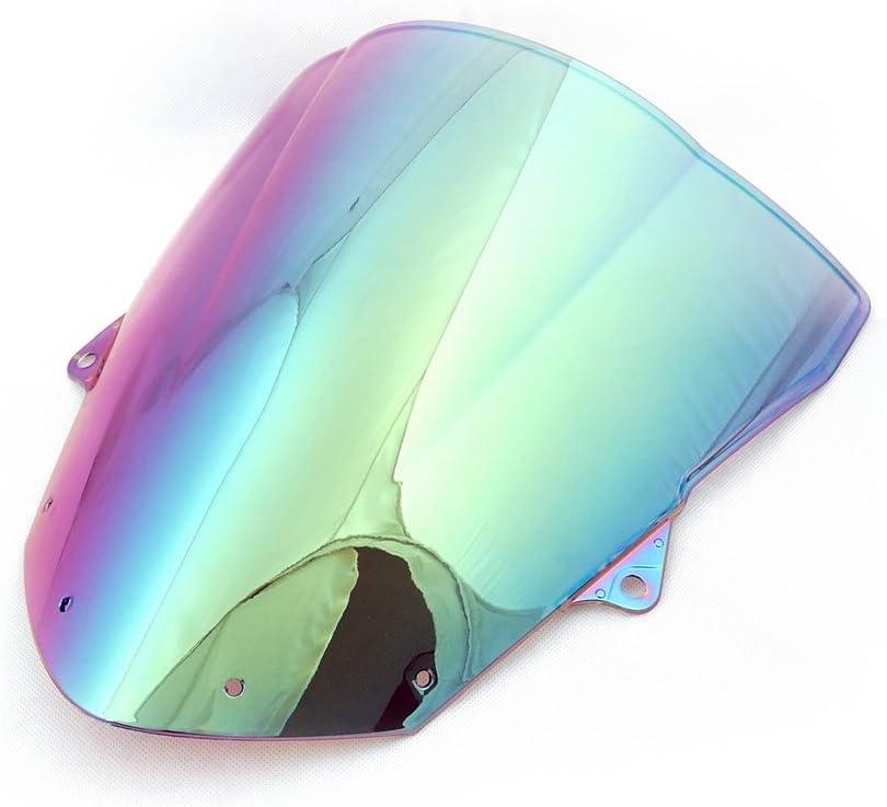 Front Double Bubble Motorcycle Windscreen Wind Shield Windshields for K-A-W-A-S-A-K-I ZX6R 2009-2014 ZX10R 2008-2010 Artudatech Motorbike Windshield