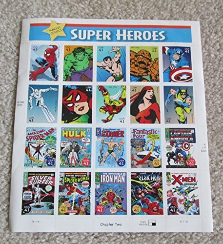 2007 Marvel Comics Super Heroes Sheet of Twenty 41 Cent Collectible Stamps Scott (Super Heroes Stamp Sheet)