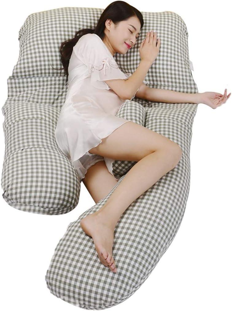 Pregnant Women Pillow Waist Side Sleeping Pillow Abdominal Pillow Cushion Bed Linings Children's Fence Postpartum Breastfeeding Pillow (Color : Green) 61yBVG7RiIL