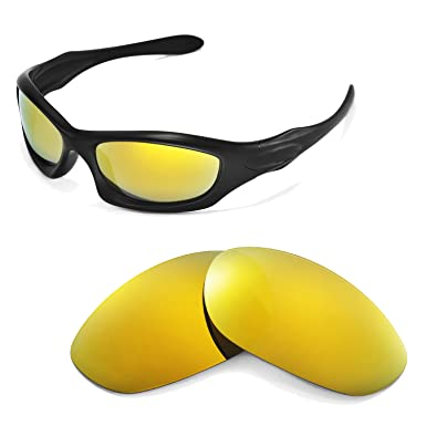 0550db18c5 Walleva Replacement Lenses for Oakley Monster Dog Sunglasses -Multiple  Options (24K Gold Mirror Coated - Polarized)  Amazon.co.uk  Clothing