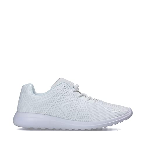 83d04c4ff40 Clarks Sprint Lane Youth Textile Trainers in White Standard Fit Size 1
