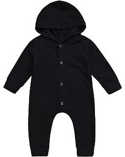 f162c8245 Amazon.com  Newborn Infant Baby Boy Girl Hooded Romper Sweatshirts ...