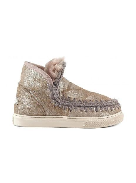 8017dd762cc Mou Eskimo 18 - Botas de Cuero para Mujer Beige Beige Beige Size  37 EU   Amazon.es  Zapatos y complementos