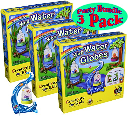 Creativity for Kids Make Your Own Wee Water Globes Kits Party Set Bundle - 3 Pack (Craft Globe Water)