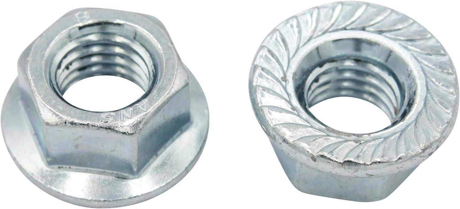 VPE: 10 St/ück D2D nach DIN 6923 // ISO 1661 aus Stahl galvanisch verzinkt Flanschmuttern mit Sperrverzahnung Gr/ö/ße: M5 Bundmuttern