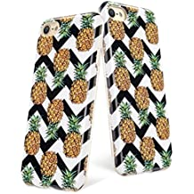iPod Touch 6th Case, iPod 6 Case, iPod 5 Case, iPod Touch 6 Clear Case, UrbanDrama Pineapple Fruit Hybrid Pattern Slim Fit Soft TPU & PC Case Protection Cover for Apple iPod Touch 5 / 6, Multi Color