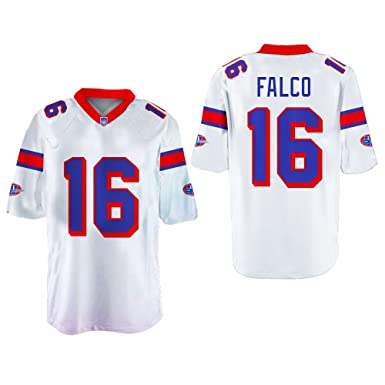 3a3820b5ce6 Shane Falco 16 Washington Sentinels Home Football Jersey Replacements  Includes League Stitch (34, White