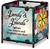 Shine on Me by Pavilion Glass Candle Holder, Family Sentiment, 3 by 3-Inch