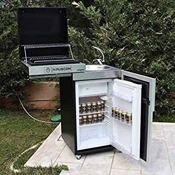 GreenAzur – Compuesto Enigma Barbacoa frigorífico Fregadero y Grifo – Enigma: Amazon.es: Jardín