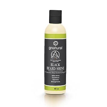 Amazon Com Gnatural Alpha Club 4 Men Shine Blend Black Beard Oil With Coconut Oil Shea Butter Argan Oil Silk Protein Wheat Germ Lavender Moisturizing Taming Your Beard Effectively 100 Organic Beauty