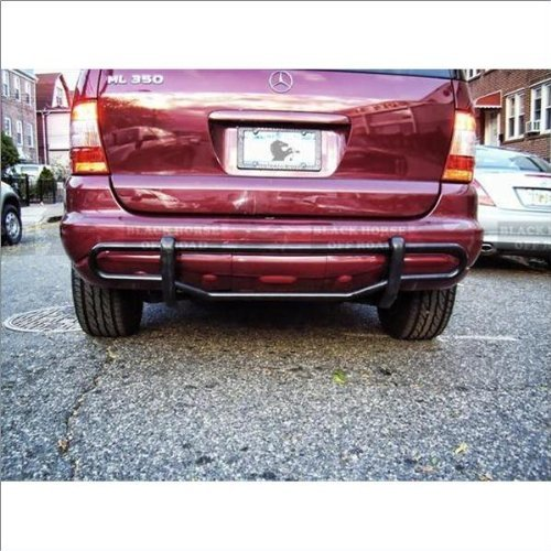 BLACK HORSE Off Road 8BA20A Black Rear Bumper Guard Double Tube