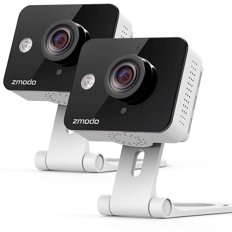 Zmodo Two-Way Audio Mini WiFi Home Security Camera (2 pack) by Zmodo