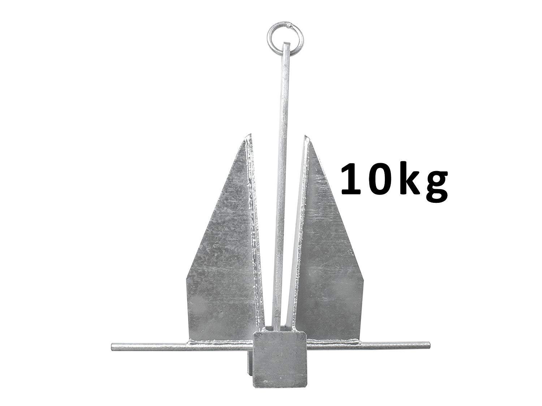 John Paddle Anker Danforth Plattenanker 10, 0 kg aus verzinkter Stahl mit Befestigungsring