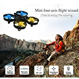 DZT1968 H36 Mini Drone 2.4Ghz 4CH 6-Axis GYRO RC anti-interference Radio Control Quadcopter Headless LED 360° Flips