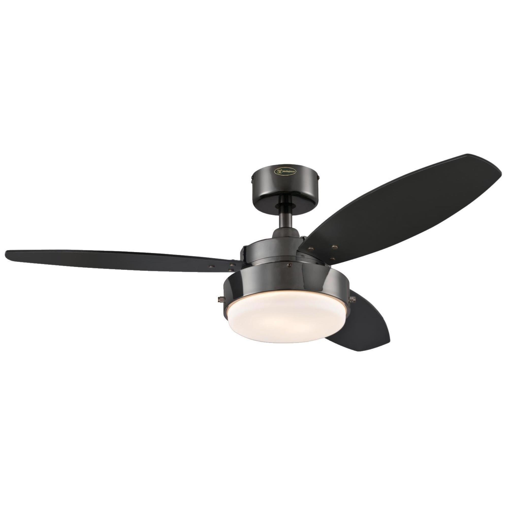 Westinghouse 7876400 Alloy 42-Inch Gun Metal Indoor Ceiling Fan, Light Kit with Opal Frosted Glass by Westinghouse Lighting