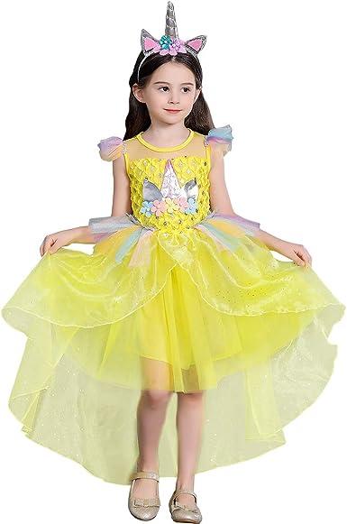OBEEII Disfraz de Unicornio Niña Vestido Unicornio Princesa con ...