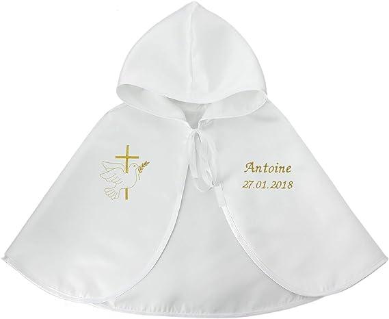 Personnalisé Bébé Baptême Bib /& Pantalon-baptême magnifiquement brodé cadeau