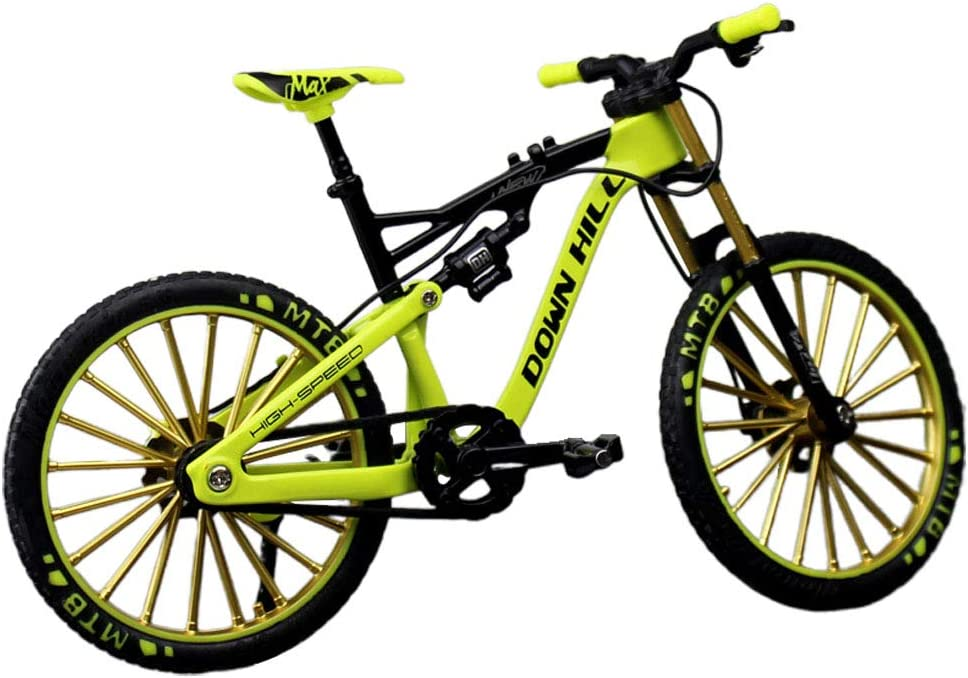 Lionina - Modelo de bicicleta de aleación de cinc 1: 10 simular el modelo de bicicleta de equitación, modelo de dedo de bicicleta en miniatura, modelo de bicicleta de montaña, juguete para niños
