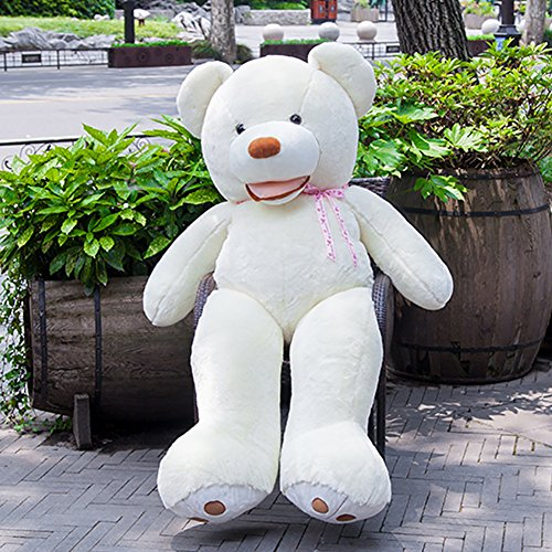 Stuffed Animal Teddy Bear Plush Soft Toy 160CM Huge Soft Toy White - 8