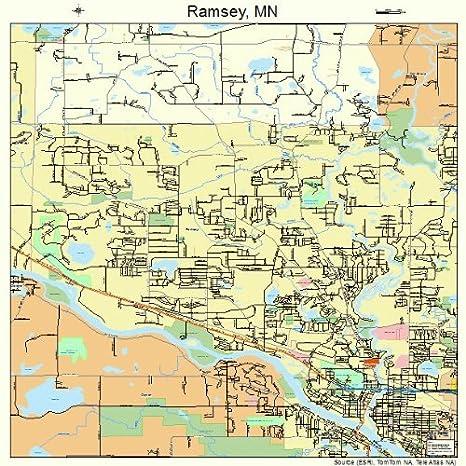 Amazon.com: Large Street & Road Map of Ramsey, Minnesota MN ...