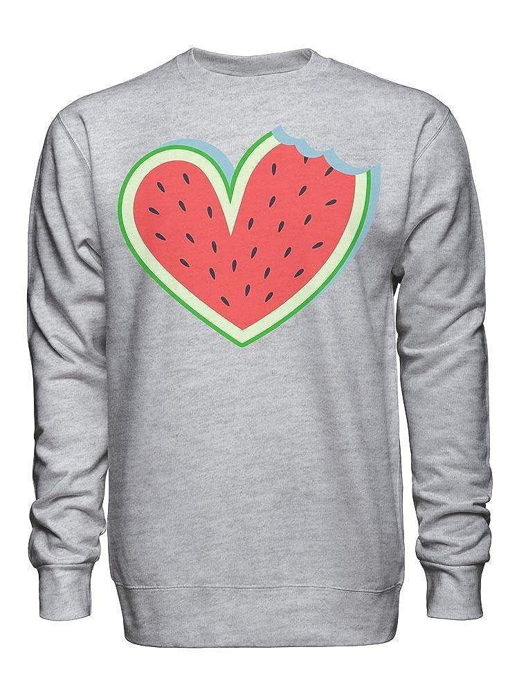 graphke Heart Shaped Watermelon Unisex Crew Neck Sweatshirt
