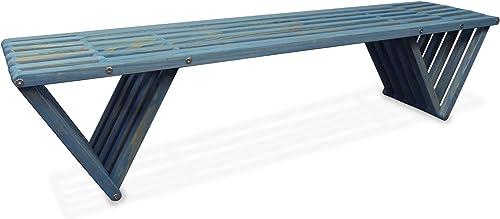 GloDea X70 Outdoor Bench, Light Sky Blue