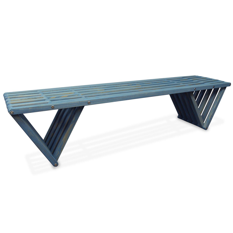 GloDea X70 Outdoor Bench, Light Sky Blue by GloDea
