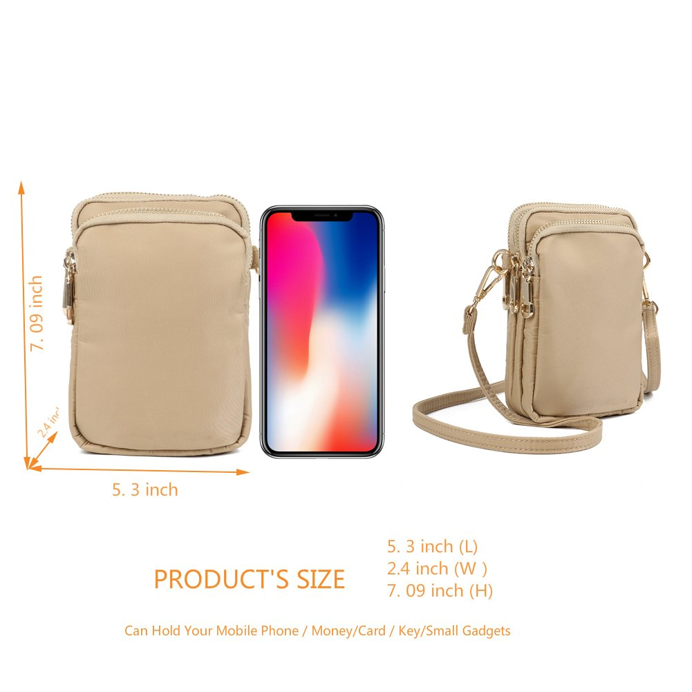 crossbody purses,HAIDEXI Small Crossbody Bags Cell Phone Purse Smartphone Wallet For Women (A-WHITE)