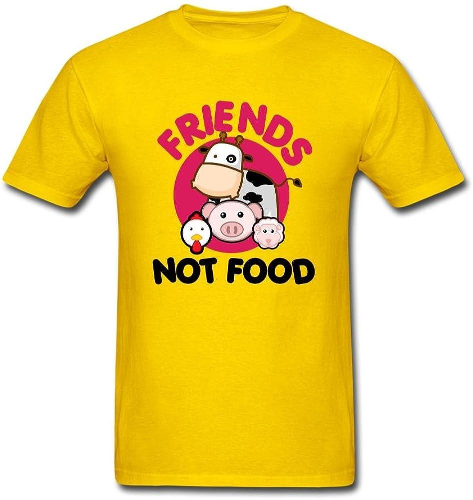 Tangry Men's Friends NOT Food Design Cotton Short Sleeve T Shirt