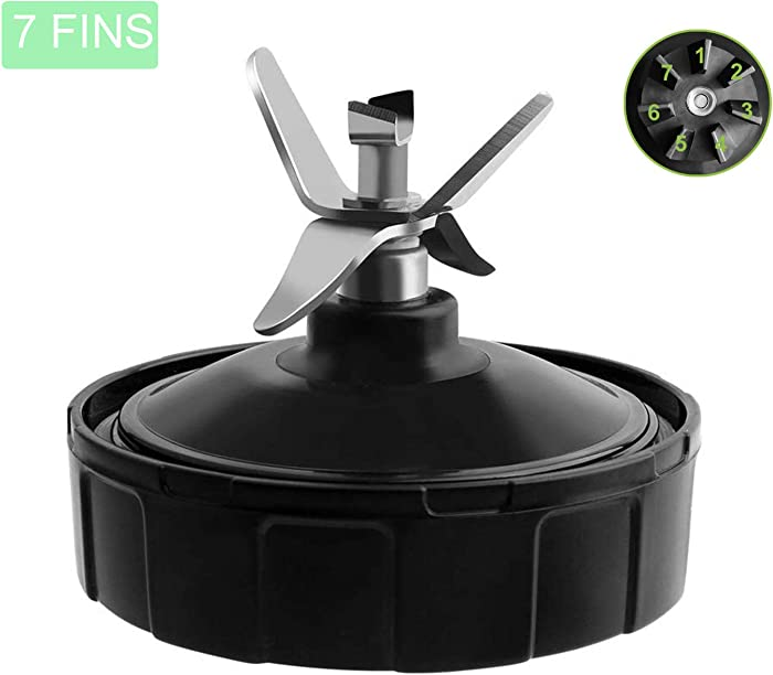 7 Fins Blender Replacement Blade for Nutri Ninja Blender, Extractor Blade Model # 431KKU480 for Ninja Pro Blender CT682SP BL456 BL480 BL482 BL642 BL681A BL682 BL640 Models