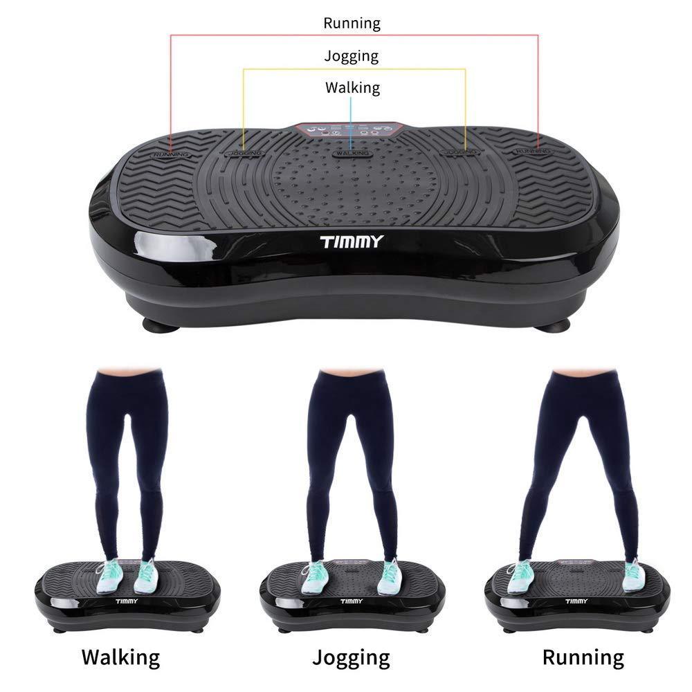 TIMMY Plataforma vibratoria Vibroshaper Tonificador Muscular Máquina de Ejercicio Plataforma Fitness para Masaje Físico, con 99 Niveles, Control ...