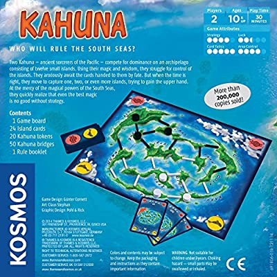 Kahuna Board Game | 2 Player Kosmos Game | Area Control Strategy | 30 Min: Toys & Games