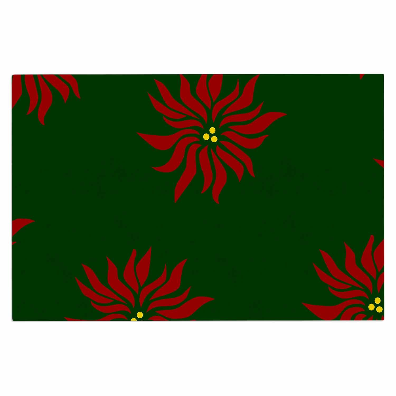 2 x 3 Floor Mat Kess InHouse Carol Schiff Caribbean Dream Green Lavender Painting Decorative Door