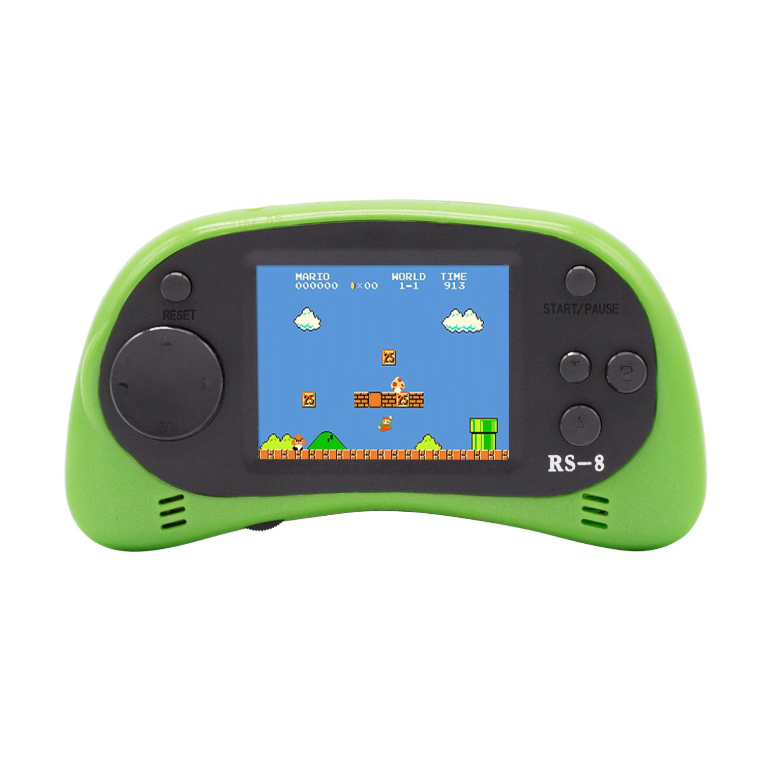 E-MODS GAMING USB Charging Retro Game Console, Portable 260 Built-in Handheld Game, 2.5'' LCD Screen, Good Gift for Children Classical Games (Green)
