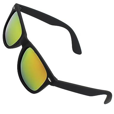 CGID MJ24 Gafas de sol Espejados nerd retro vintage unisex Cristales Polarizados,Mate Negro Naranja