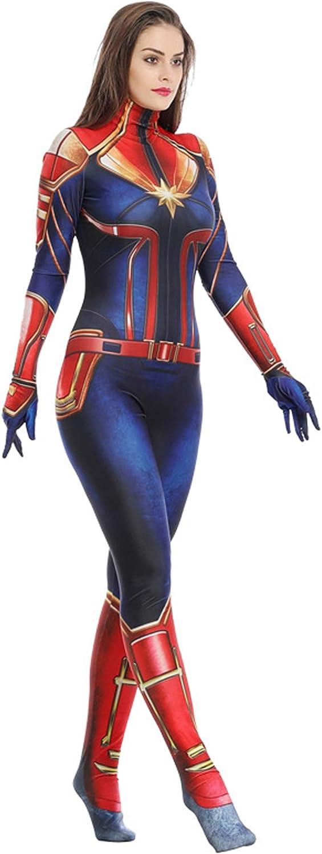 Captain Carol Danvers Cosplay Jumpsuits Carol Danvers Costume Suit Full Set for Women