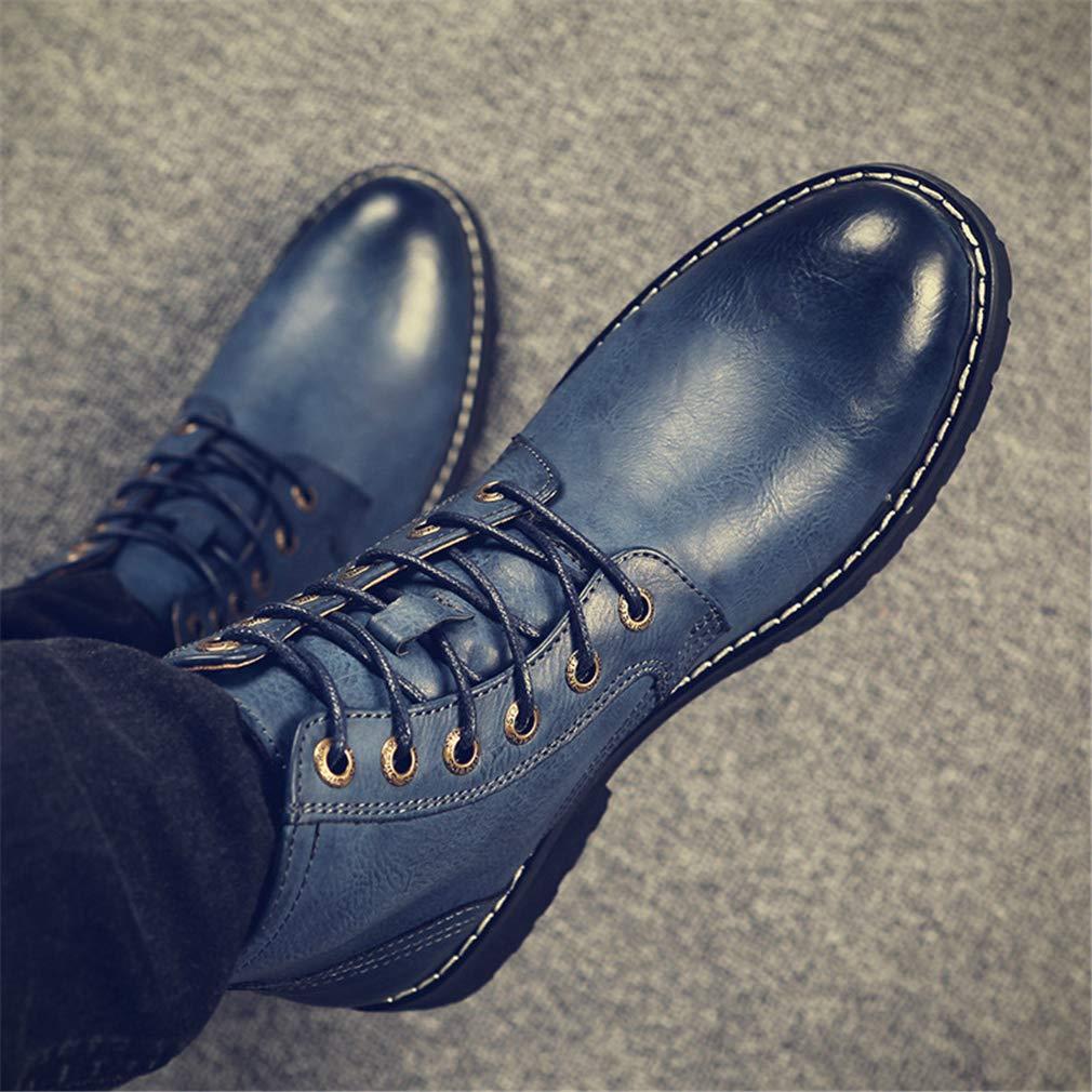 YAN Herrenschuhe Leder Leder Leder Fall & Winter Martin Stiefelspitze Hoch-Top-Wanderschuhe Formale Schuhe Kleider Schuhe Lässig Täglich Wanderschuhe,A,44 dc1902