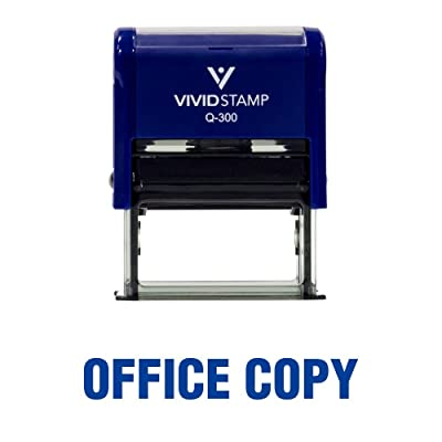 Office Copy Self Inking Rubber Stamp (Blue Ink) - Large: Office Products