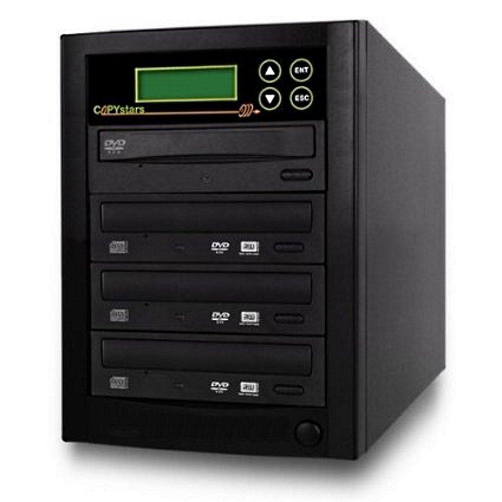 Copystars Blu-Ray-Burner DVD Duplicator 16X BD-R BDXL-MDisc CD-Dvd External Burner Duplicator 1 to 3 Tower SYS-BDR-1-3-LGCH