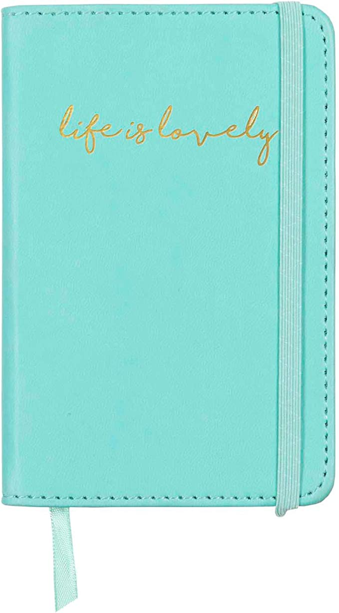 240 C.R Gibson Blue Leatherette Dreams and Schemes Journal Notebook for Girls 5.25 W x 8.25 L