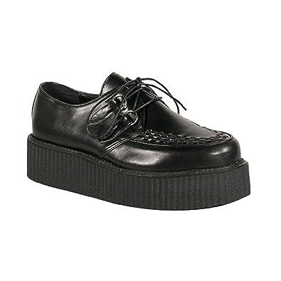 save off 7e87c 8203e 2 Inch Mens Platform Shoe Gothic Punk Lace Up Oxfords Veggie Creeper Shoe  Black Size