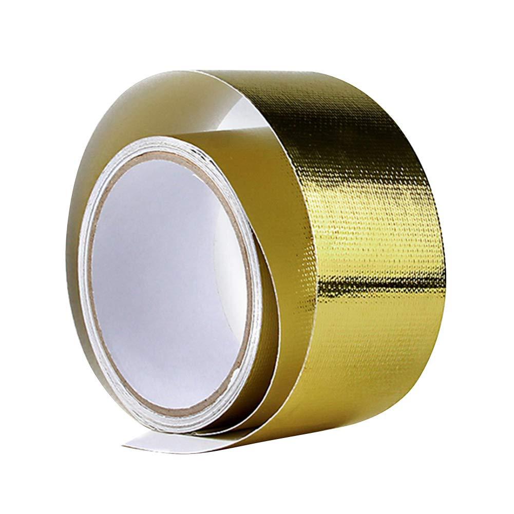 Alftek 5 mx5 cm Adhesive Fibra de Vidrio Resistente al Calor Reflectantes de Alta Temperatura de Calor Cartel Wrap Tapes