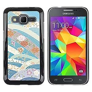 iKiki Tech / Estuche rígido - Sky Flowers Blue Tones - Samsung Galaxy Core Prime SM-G360