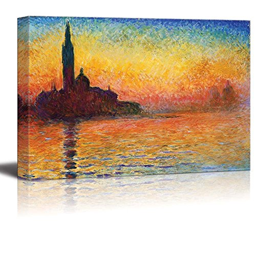 San Giorgio Maggiore at Dusk by Claude Monet Print Famous Oil Painting Reproduction