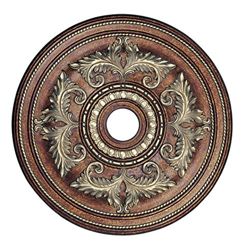 Livex Lighting 8210-64 Ceiling Medallion in Palacial Bronze with Gilded Accents by Livex Lighting