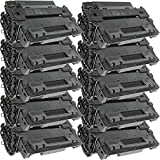 10 Inkfirst® Toner Cartridges CE255X (55X) Compatible Remanufactured for HP CE255X Black LaserJet P3015 P3015D P3015DN P3015N P3015X