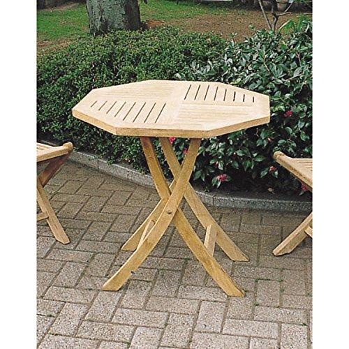 チークの折り畳みテーブル[幅70cm×奥行き70cm][ガーデンテーブル] ノーブランド品 B07BBX4QF7