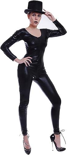 Catsuit Overall Gothic  Lack//Latex look mit Handschuhen und Strümpfen