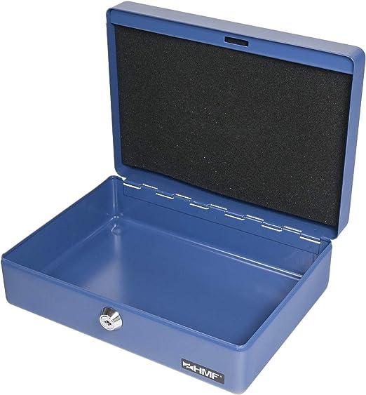 HMF 208-05 Caja de caudales, para monedas 25 x 18 x 9 cm, azul ...